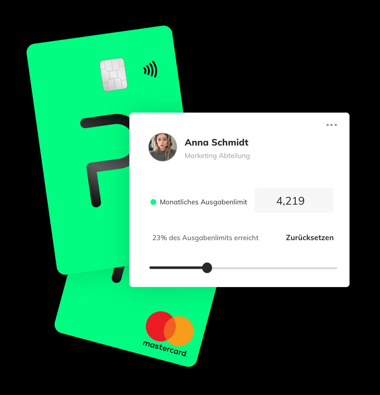 Penta firmenkarte, corporate card, mastercard corporate, team cards